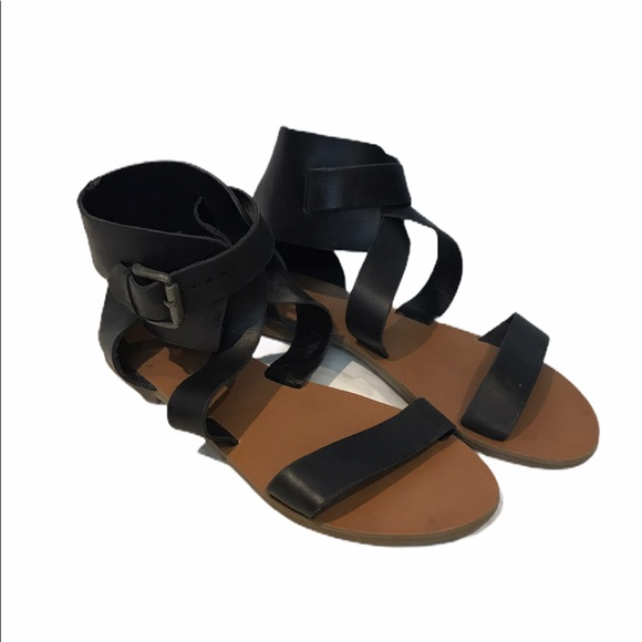 Urban Outfitters Gladiator Sandals Black Sz 8